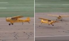 Incredible moment planes take off WITHOUT going down the runway