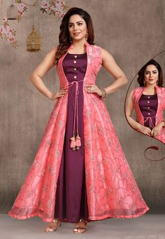 Beautiful Dresses Images For me Shiva Girls Party Wear Indian Dresses, Indian Gowns Dresses, Dress Indian Style, Indian Dresses Online, Flapper Dresses, Sleeves Designs For Dresses, Dress Neck Designs, Neck Designs For Suits, Long Gown Dress