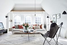 Attic apartment with lots of natural light in Gothenburg   PUFIK. Beautiful Interiors. Online Magazine