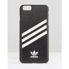 adidas Originals 3 Stripe iPhone 6 Plus Case In Black And White