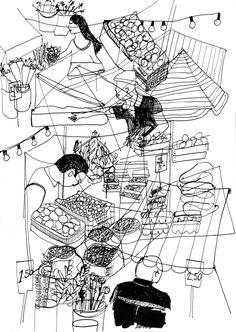 Sanne van Winden illustration / market