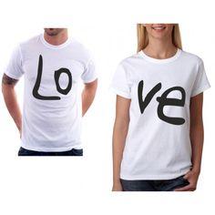 e04ac4a7b17 Ve - Dámské tričko pro zamilované páry s celým nápisem LOVE