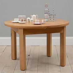 Light Oak 120cm-160cm Ext. Round Dining Table