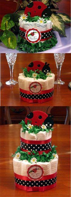 baby shower centerpiece ideas classic diaper cake 13 diapers 6 12 ladybug