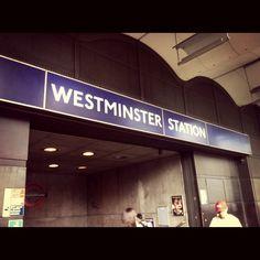 Westminster station. Big ben.