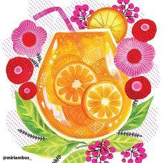 Let your eyes drink up this refreshing piece from Miriam Bos. @miriambos_⠀ .⠀ .⠀ .⠀ .⠀ .⠀ #surfacedesign#licensing#artistsoninstagram#luckiestagentever #jennifernelsonartists#illustration#pattern#surfacepattern#surfacepatterndesign#illustratorsoninstagram #illustration#artlicensing #summer #summerdrink