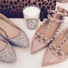 Valentino Shoes - Authentic Valentino Rockstud T-Strap flats on Poshmark