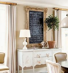 Love the LARGE chalk board!