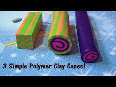 Sculpey Polymer Clay Cane Techniques - YouTube