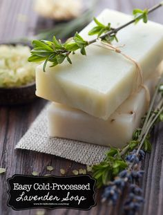 How To Make Easy Cold-Processed Lavender Soap | Bulk Herb Store Blog | Ever wanted to make your own cold processed lavender soap? If so, we've got a great tutorial for you today!