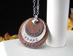 Sterling Silver Mixed Metal Hand Stamped Custom by auctionprincess, $54.00