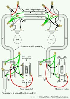 3 Way Switch Wiring Diagram in 2018 | Electrical diy | Pinterest ...
