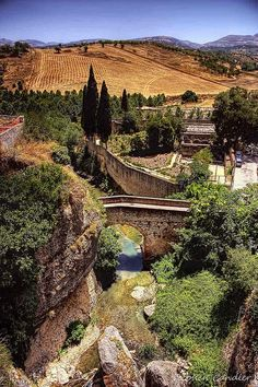 De omgeving van Puente Arabe, Ronda, Andalusië