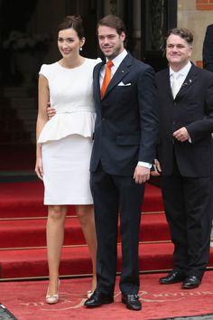 Luxembourg Prince Wedding | Peplum Wedding Dress For Luxembourg's Newest Princess