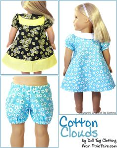 "Cotton Clouds 18"" Doll Clothes"