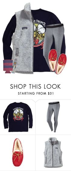 """""""last night"""" by wiinter-blue ❤ liked on Polyvore featuring Southern Proper, NIKE, UGG Australia, Patagonia and Audiovox"""