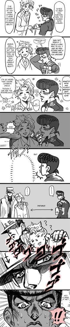 Josuke meets Kakyoin