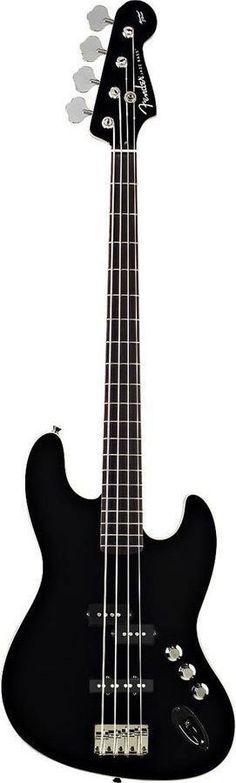 Fender Aerodyne Jazz Bass Guitar | Black Finish