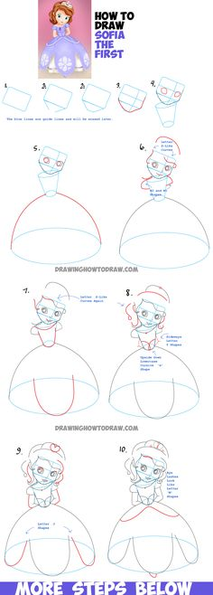 How to Draw Sofia from Sofia the First - Easy Step by Step Drawing Tutorial