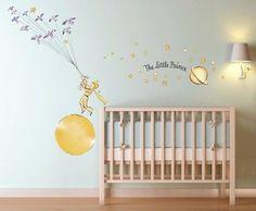 The Little Prince nursery theme Do It Yourself Decoration, Do It Yourself Design, Kids Room Wall Decals, Kids Room Paint, Wall Mural, Room Kids, Prince Nursery, Kids Room Accessories, Minimalist Kids