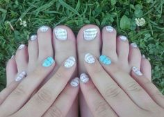 pink and blue nails, newspaper