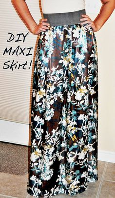Maxi Skirt tutorial...may have pinned this already