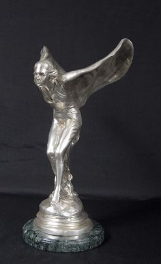 Art Deco Bronze Flying Lady, Rolls Royce Mascot by Charles Sykes - Spirit Ecstacy