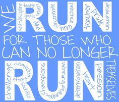 """We are taking orders for this T-shirt to help raise money for Team Spangler (For Team Fox) Michael J. Fox's Parkinson's Research Foundation (Wr are running the NYC Marathon).  Each T-shirt is $15 and the Quote is """"We Run For Those who Can No Longer Run Themselves""""  Please Email MissySpangler22@yahoo.com if interested or any questions.  For additional information on our project and journey, check out our blog: http://missyspangler22.blogspot.com"""