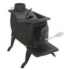 $338 US Stove 1261 Logwood, Small, Cast Iron Construction In Black