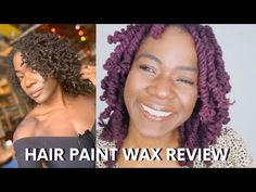 PURPLE TEMPORARY COLOR ON LOCS | HAIR PAINT WAX TUTORIAL + REVIEW 2019 | CARNIVAL HAIR FOR LOCS - YouTube