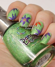 Easy floral nail art on Inhale