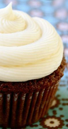Chocolate Guinness Cupcakes  ~ incredibly moist and the homemade vanilla cream cheese frosting was as irresistible.... Y-U-M.