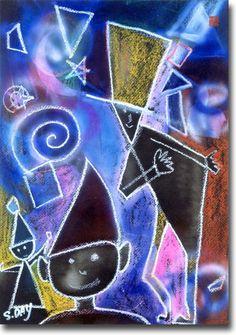 新月紫紺大作の子供部屋に飾る絵 タイトル「フォッシー」