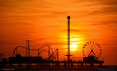 This morning's sunrise over the Pleasure Pier.