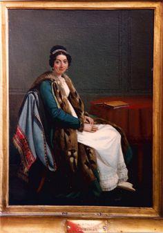 Portrait de Charlotte Bonaparte, fille de Joseph Bonaparte et nièce de Napoléon - Léopold Robert