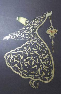 Altın yaldızlı Mevlevi ஐ :)♨️♔♛✤ɂтۃ؍ӑÑБՑ֘˜ǘȘɘИҘԘܘ࠘ŘƘǘʘИјؙYÙř Arabic Calligraphy Art, Arabic Art, Islamic Art Pattern, Pattern Art, Turkish Art, Turkish Design, Persian Motifs, Iranian Art, Gold Work
