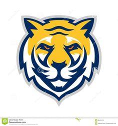 Tiger Logo Template stock vector.