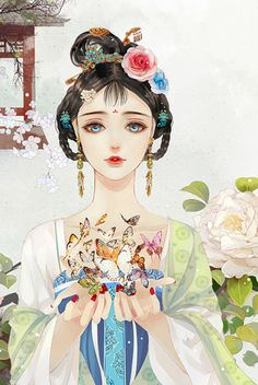 Nữ tử chốn khuê phòng Ancient China, Ancient Art, Ancient Beauty, Chinese Painting, Chinese Art, Anime Art Girl, Manga Art, Manga Anime, Chinese Drawings