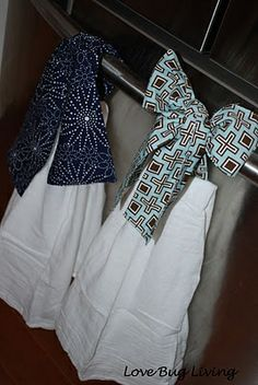 Hanging Kitchen Towels - Need to make these!!!.