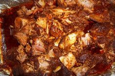 """Costillas de Puerco (pork ribs) - """"These ribs are excellent for making tacos, burritos or just eating as-is! This was one of my Mom's signature dishes! Spanish Dishes, Mexican Dishes, Spanish Food, Latin American Food, Latin Food, Real Mexican Food, Mexican Food Recipes, Ethnic Recipes, I Love Food"""