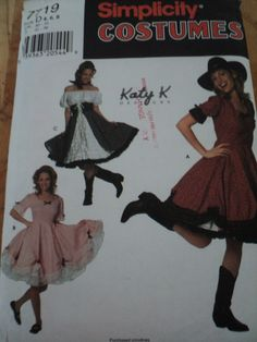Sewing Pattern 7719 SIMPLICITY COSTUMES Misses Square Dance Southern $7 @Julie Forrest Mjcreation Etsy