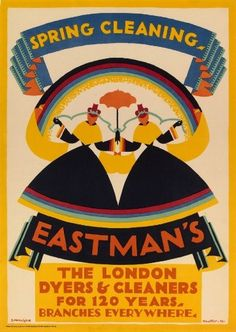 Eastman's Dyers and Cleaners by Edward McKnight Kauffer vintage advertising