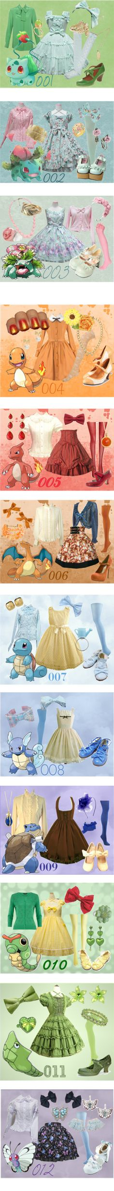 150 Pokemon Lolitas by meiki on Polyvore featuring Chloé, Jennifer Meyer Jewelry, Reiss, Baccarat, lolita fashion, bulbasaur, pokemon, lolita, We Love Colors and Coach