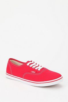red vans lo pro's, love them. Everyone should own a pair of red shoes.
