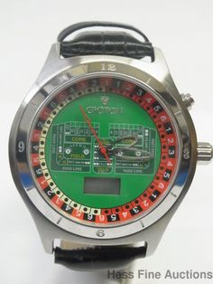Massive Mens Genuine Croton Gambling Casino Dice Craps Roulette Edition Watch #Croton #Casual