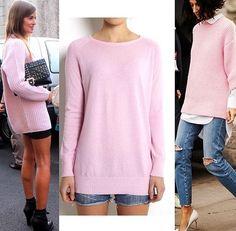 WILD WOOL 100% cashmere Oversized sweater - pink www.wildwool.no