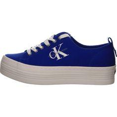 Calvin Klein Zolah Canvas Sneaker in blau jetzt bei Salamander shoppen Canvas Sneakers, Converse, Fashion, Calvin Klein Shoes, Deep Blue, Calvin Klein Women, Color Of The Year, Beautiful Shoes, Loafers