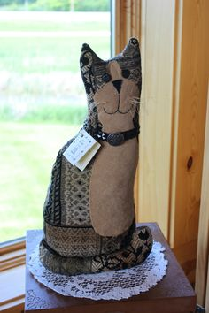 """Gilda"" the cat by local artist Lucy's Lazy Dayz Primatives 