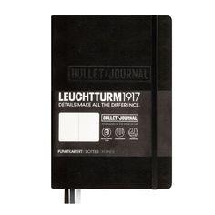 Leuchtturm1917 346703 Bullet Journal Notizbuch (A5, Dotted, Hardcover) 240 Seiten schwarz