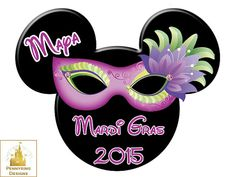 Mardi Gras Mask Mickey Mouse Tiana I'm Going to by Pennyring
